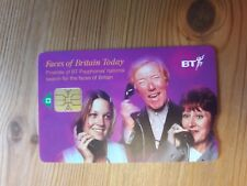 Collectable BT Phone Card Faces of Britain Today Purple