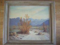 edward carpenter bearden painting ''desert willow'' on masonite