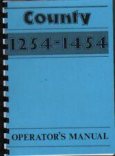 County 1254/1454 Tractor Operator Manual Book