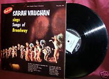 Sarah Vaughan Sings Songs of Broadway LP Rondolette A35