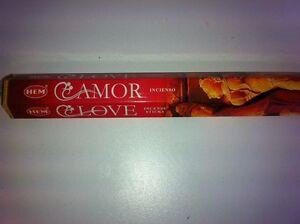 HEM INCENSE STICKS 20 PER BOX FOR LOVE (AMOR)