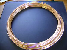 14K ROSE GOLD FILLED 22G ROUND WIRE 5 FEET  DS