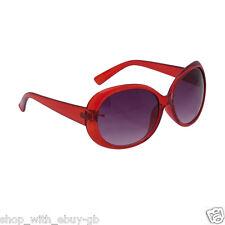 Ladies Oversized Round / Oval Sunglasses Translucent Frame Stylish Shades UV400