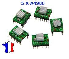 5 Driver moteur pas à pas A4988 + dissipateur / stepper motor + heatsink /Pololu