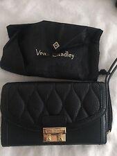 Vera Bradley Ultimate Wristlet Black Leather NWT Free Shipping