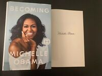 BECOMING BY MICHELLE OBAMA SIGNED AUTOGRAPHE0D BOOK 1ST EDITION NYC 11/30