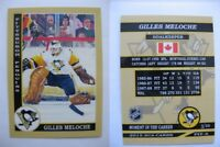 2015 SCA Gilles Meloche Pittsburgh Penguins goalie never issued produced #d/10