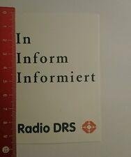 Aufkleber/Sticker: Radio Drs in inform informiert (230816135)