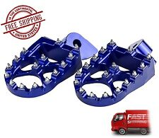 Yamaha WR250F  WR450F WR 250 450 F Foot Pegs Footrests WIDE FAT Anodized Blue
