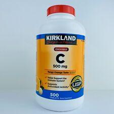 Sealed Kirkland Signature Vitamin C 500 mg 500 Chewable Tablets Tange Orange