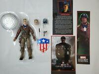 Marvel Legends Studios MCU WW2 Captain America First Avenger Steve Rogers 2 PK