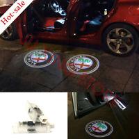 Alfa Romeo Car Led Light Door Logo Emblem Projector Kit For Stelvio Giulia 17-18