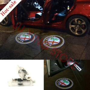 Alfa Romeo Car Led Light Door Logo Emblem Projector Kit For Stelvio Giulia 17-18
