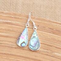 Abalone Shell 925 Sterling Silver Drop Earrings Jewellery N2