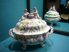 NIDERVILLER  CUSTINE 1770-1793 FRENCH POTTERY  COVERED TUREEN WITH PUTTIS