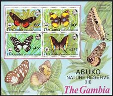 Butterflies Gambian Stamps (1965-Now)