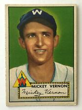 1952 Topps Baseball Card • Mickey Vernon • #106