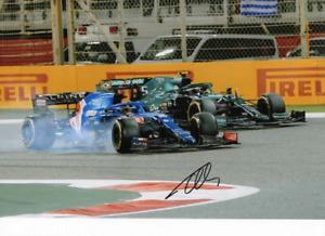 Fernando Alonso hand signed photo. Alpine 2021