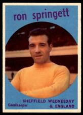 A&BC Footballers 1960 Black Back (B1) Ron Springett Sheffield Wednesday No. 27