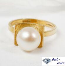 Designer-Ring in 585 Gold mit Perle