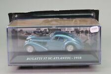 ZT839 IXO voiture 1/43 Bugatti 57 SC Atlantic 1938 bleu métallisé