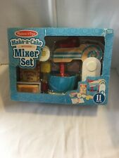 Melissa & Doug Make-a-Cake Wooden Mixer Set Age 3+