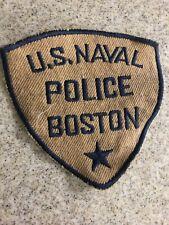 Vintage Boston US Naval Police Patch