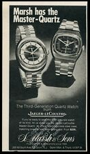 1972 Jaeger-LeCoultre Master Quartz watch 2 styles photo vintage print ad