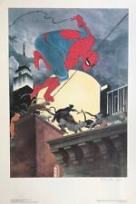 CHARLES VESS rare SPIDER-MAN print SIGNED First Team Press 1988 18x24 EMBOSSED!