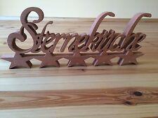 Holz Schriftzug STERNEKÜCHE 50 x 20 x 3,5 cm Küche Hingucker zum Stellen