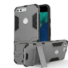 NEW Hybrid Back Armor Case Hard PC Shell Cover Kickstand Rubber For Google Pixel