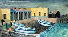 "Arne Siegfried 1893-1985 Schaffhausen/Tempera ""Puerto de La Cruz""/Tenerife"