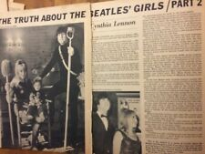 John Lennon, The Beatles, Cynthia and Julian, Two Page Vintage Clipping