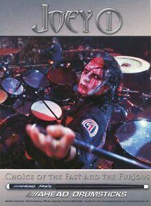 2004 Print Ad of Ahead Drumsticks w Joey Jordison of Slipknot