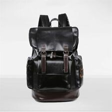 Fashion Vintage Notebook Laptop Backpack Large Capacity Casual Leather Backpacks