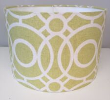 Clarke And Clarke Handmade Lampshade Eclipse Citrus 40cm, Contemporary Yellow