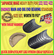 FOR TOYOTA AVENSIS RAV4 MR2 MR-2 MRS MR-S 1.8 1ZZ STD MAIN & BIG END BEARING SET