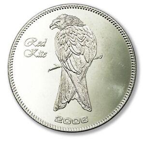 Somalia Endangered Wildlife Red Kite 25 Shillings 2006 Prooflike Crown