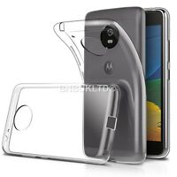 Clear Silicone Slim Gel Case & Screen Protector For Motorola Moto G5 (2017)