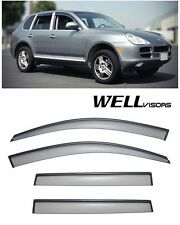 WellVisors Side Window Visors Deflectors W/ Black Trim For 03-10 Porsche Cayenne