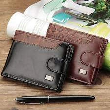 Leather Men Wallets Short Male Purse With Coin Pocket Card Holder Trifold Wallet