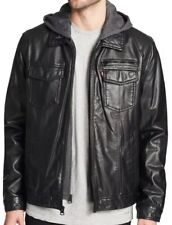 color negro talla L Bikers Gear CE1621-1 Pantal/ón de piel sint/ética para hombre