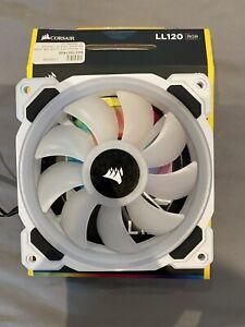 Corsair LL120 RGB 120mm Dual Light Loop White PWM Case Fan - Single Pack