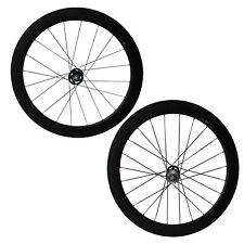 60mm tubular fixed gear(track) carbon wheelset 20.5mm or 23mm width