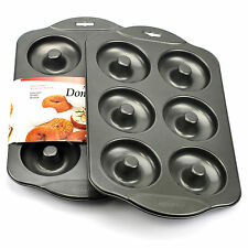 Donut Pan, Baking Nonstick Mini Donut Pan Silicone With 6 Count Silver(set Of 2)