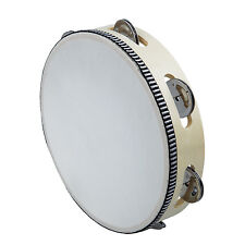 "8"" Musical Tambourine Drum Round Percussion Gift for KTV Party CP"