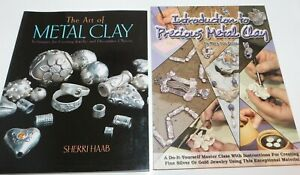 Lot of 2 Books Art of METAL CLAY & Introduction to Precious, Jewelry Making