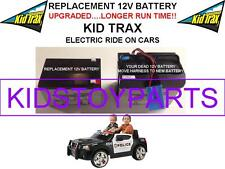 DODGE POLICE LONG LASTING REPLACEMENT KID TRAX 12 VOLT RECHARGE  BATTERY