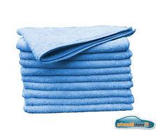 20x Microfasertücher 40x40 cm Micofaser Tuch sehr saugstark Mikrofasertuch Blau