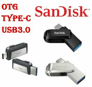 SanDisk Type C USB 3.1 32GB 64G 128G 256G Go Flash Drive Memory Ultra Dual Luxe